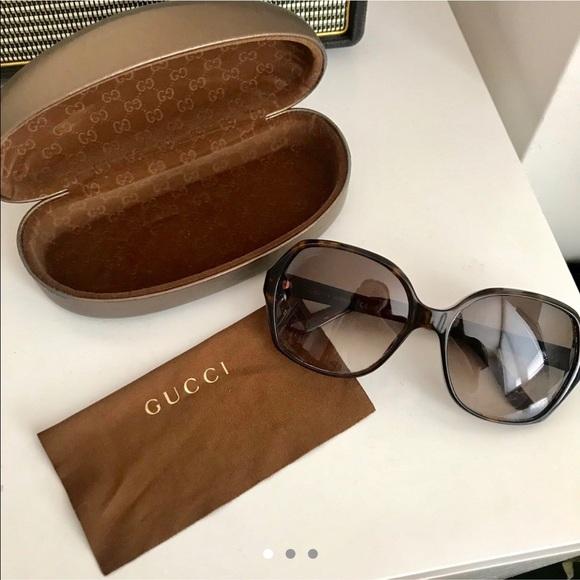 Authentic vintage Gucci tortoiseshell sunglasses